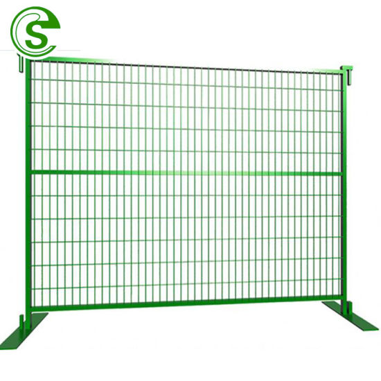 China Factory Powder Coated Yellow Canada Temporary Fence Hot Sale
