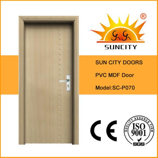 Interior Plastic Solid Wood French Exterior PVC Casement Glass Door