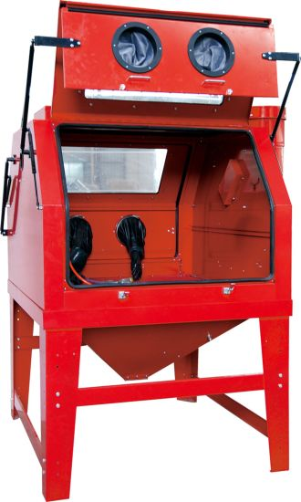 1200L Large Industrial Sandblast Cabinet Abrasive Sandblaster Tank Double Doors pictures & photos