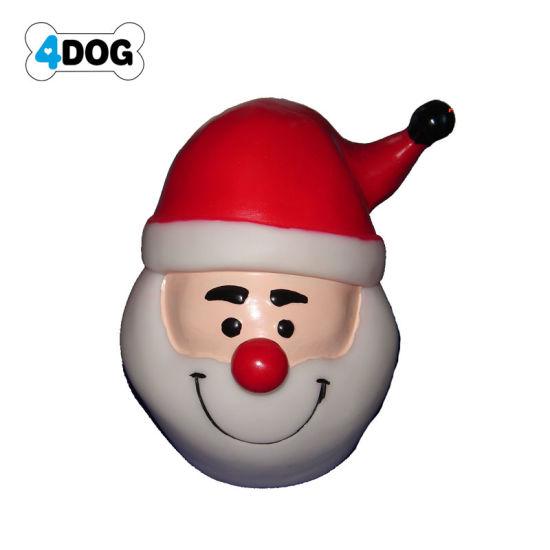 Vinyl Squeaky Christmas Santa Claus Ball Dog Toy, Pet Toy (D11243)