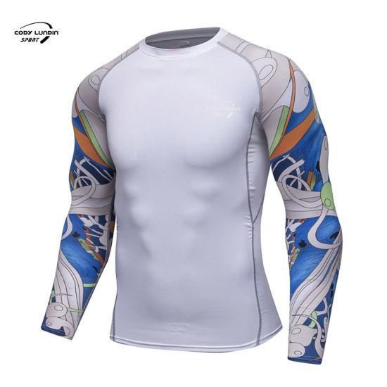 Cody Lundin Custom Printing Compression Tee Top Lady Skull Full Printed Tshirt MMA Bjj Fitness Rash Guards
