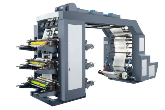 Flexo Printing Press Six Color for Packing Bags Speed 80m/Min