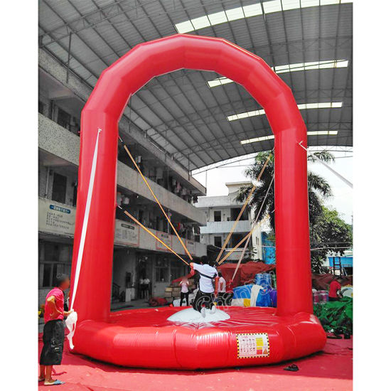 Red Inflatable Bungee Jump Trampoline for Sales pictures & photos