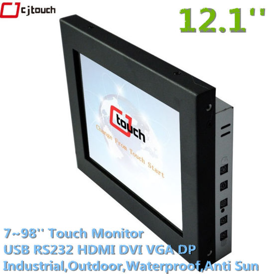 12.1inch Industrial Touchscreen Capacitive Openframe TFT LCD Monitors LED Displayer Outdoor Waterproof pictures & photos