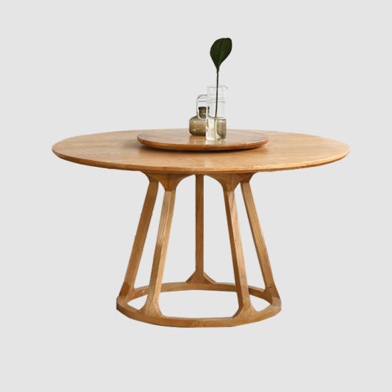 Restaurant Furniture Round Wood Dining Table Set for 6 Person