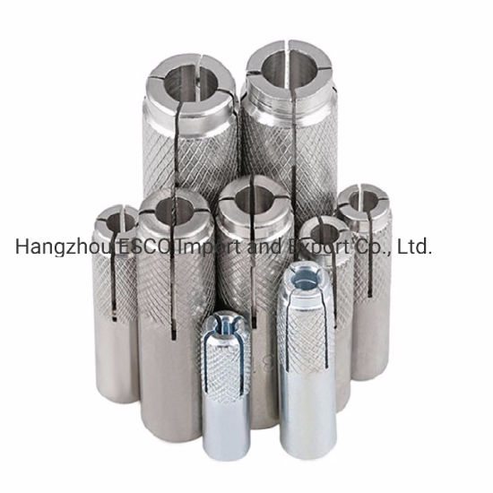 Drop in Anchor Carton Steel or 304/316 Stainless Steel