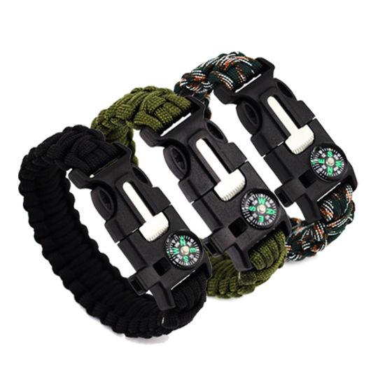Activity Self Rescue Cord Bracelets Compass Survival Camping Travel Bracelet Men Professional Tools