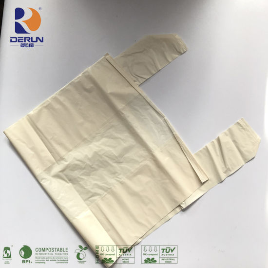 Biodegradable Trash Bags Biodegradable Carrier Bags Biodegradable T-Shirt Bags