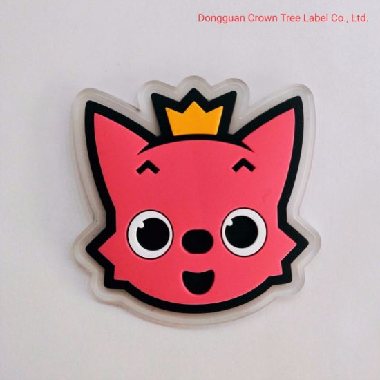 Pink Wolf Translucent Silicone Label Cartoon