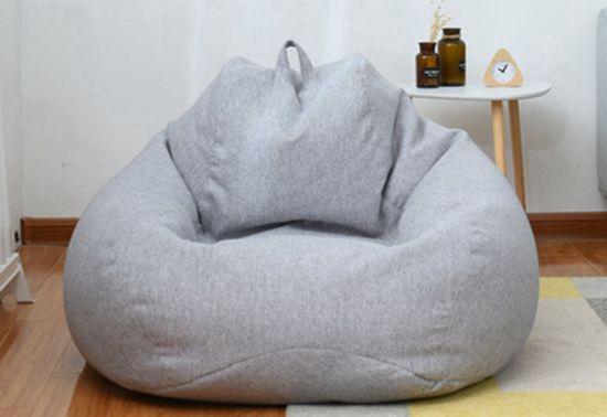 China Drop Bean Bag Sofa In Solid Color