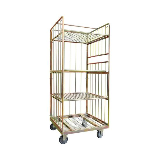 Collapsible Wire Mesh Container Rolling Metal Storage Cage