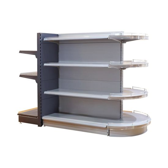 Popular Back Hole Strong Retail Store Display Shelf