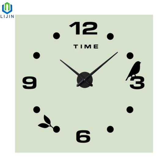 Creative DIY Clock Acrylic Simple Digital Super Size Wall Clock