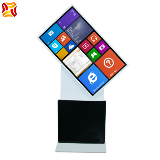 "43"" Inch Vertical Rotary LCD Advertising Machine Floor Standing LCD Touch Display LCD Player"