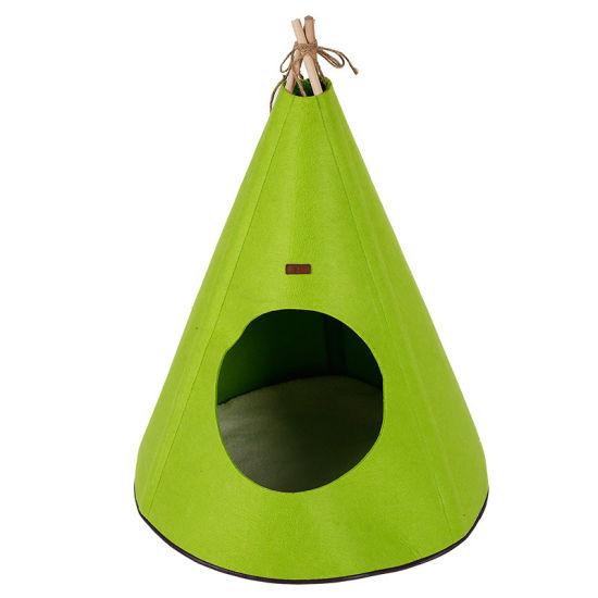 Cheap Price Felt Material Pet Tent Cat Dog Bed Anti-Slip Pet House Supply
