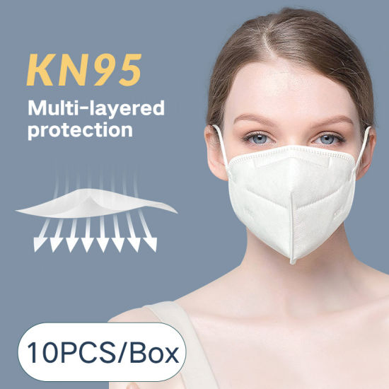 Hot Selling Kn95 Wholesale White Non-Woven Face Mask 4 Ply Earloop Face Mask