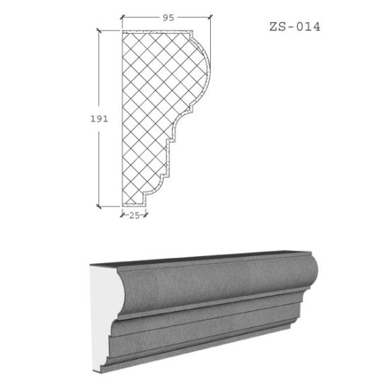 China Modern Exterior Cornice Cement Eps Window Frame Moulding Designs China Expandable Polystyrene Foam Eps Window Frame Moulding