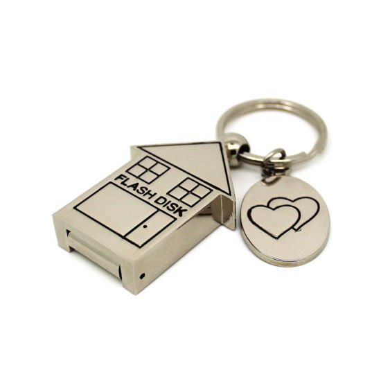 Metal Little House Shape USB Stick 8GB 64GB USB Pendrive 32GB USB Flash Drive