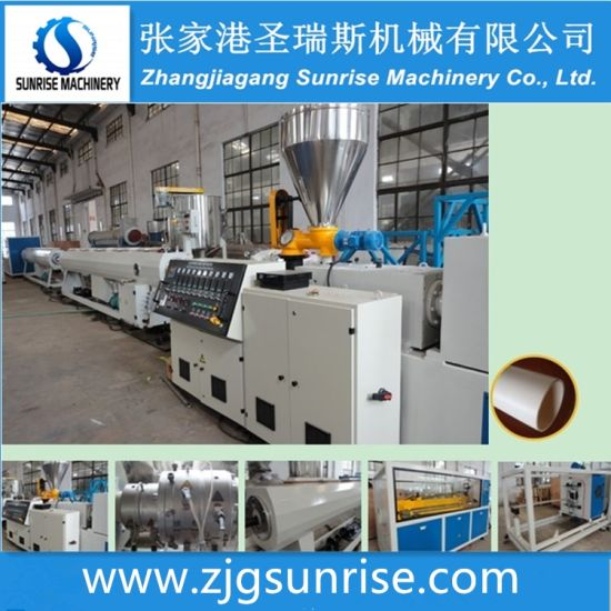 Double Output PVC Pipes Extrusion Line for 16-63mm Pipes