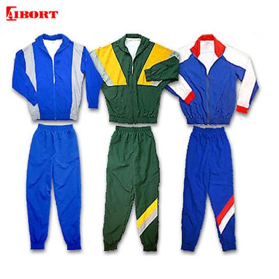 Aibort Blank Men Plus Size 100% Polyester Sports Custom Tracksuits