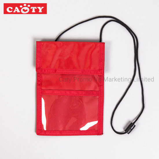 Office Stationary Exhibition Neck Pouch Organization Card Holder pictures & photos