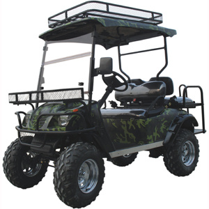 Electric Lifted Golf Cart as Hunting Buggy