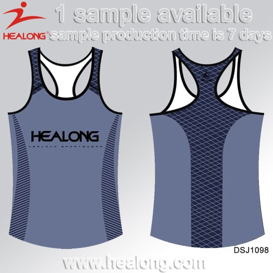 China Ladies Gear Latest Healong Sublimation Running Apparel Design 8qApr8w