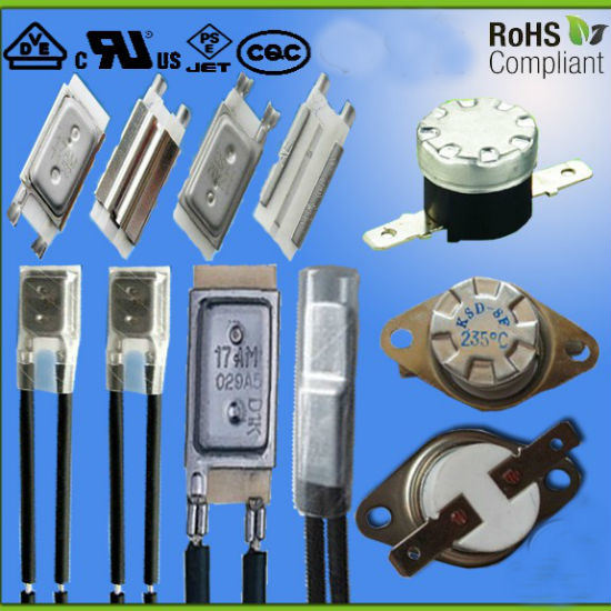 17am Thermostat Switch Used in AC/DC Motor Thermal Protector Temperature Fuse