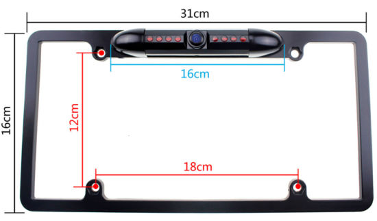 China American USA Vehicle Backup Camera License Plate Frame Car ...