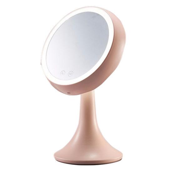 LED Makeup Mirror Make-up Beauty Tools Dormitory Mirror Desktop Makeup Mirror with Lamp Makeup Mirror Cosmetics Tool Table Lamp Esg12602