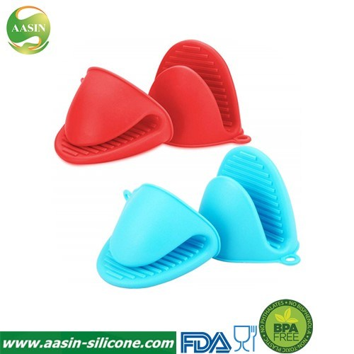 Silicone Oven Mitt Mini Oven Mitts Gloves Silicone Heat Resistant Cooking Pinch Mitts Potholder