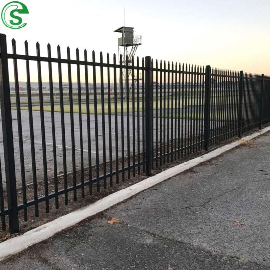 Cast Iron Fence Panels Steel Prefab Tubular Fencing for Warehouse