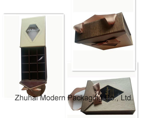 China 12pcs Cardboard Beautiful Chocolate Box With Clear Window Logo