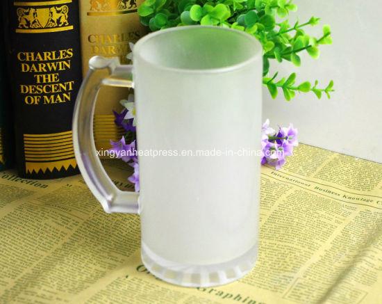 16oz Frosted Sublimation Glass Mug