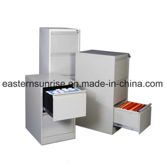 Good Quality Three Drawer Storage Metal Steel Iron Filing Cabinet pictures & photos