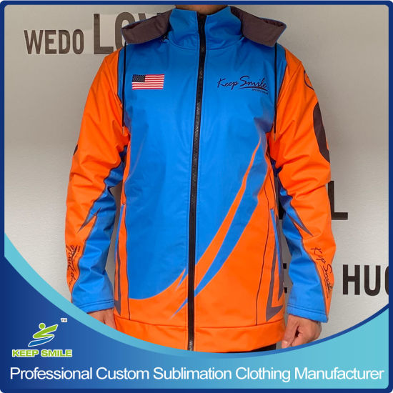 Custom Made Sublimation Heavy Windproof and Breathable Winter Ski Jacket with Removable Hood and Heavy Fleece Inside