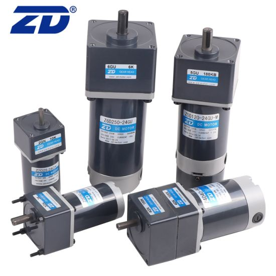 Stable Performance Reversible Electric DC 60W 90mm Frame Gear Motor with Eccentric Output Shaft