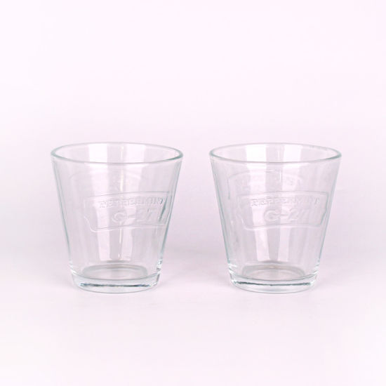Wholesale 230ml Glass Candle Light Holder Votived Tealight Glass Candle Jar