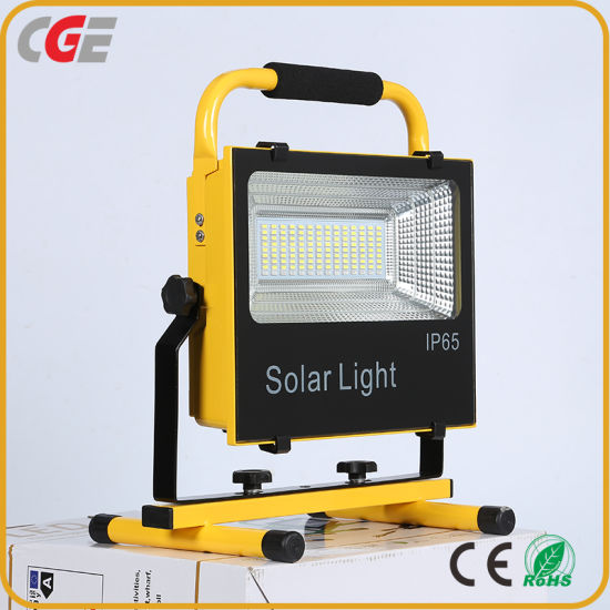 Factory Direct Price Sport Rechargeable IP65 100W Integrated All in One Solar LED Floodlight