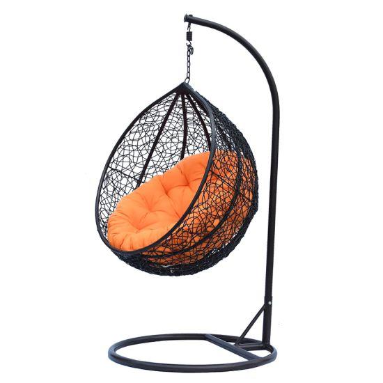 Casual Outdoor Hanging Chair PE Rattan Wicker Single Swing Chair