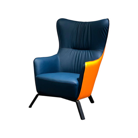 High Back Upholstered Leather Chair for Living Room and Bedroom