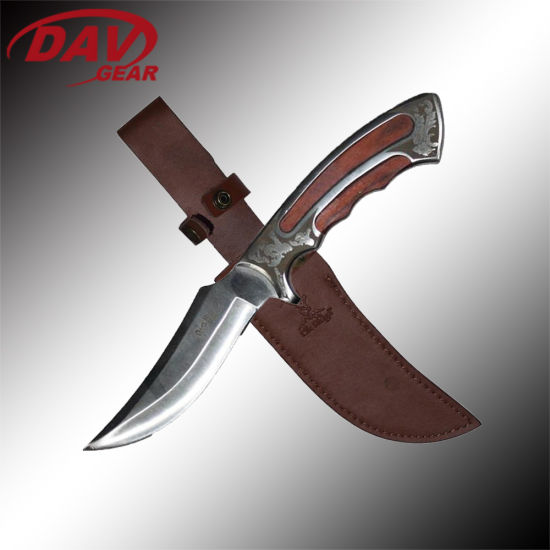 """9.8""""3Cr13 Stainless Steel Satin Blade Fixed Blade Knife EDC"""