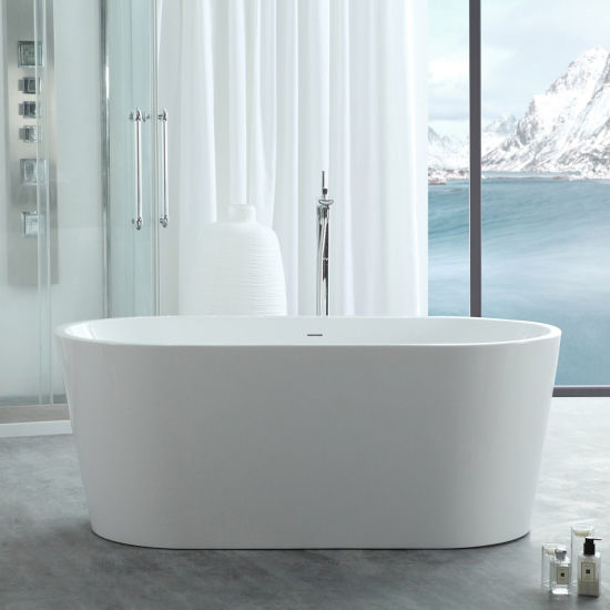 Ce Massage Bathtub, Free Standing Bath, Acrylic Freestanding Bathtub