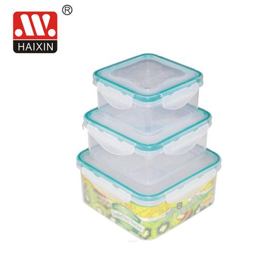 Microwave Square Clip Lock Food Box for Kitchenware