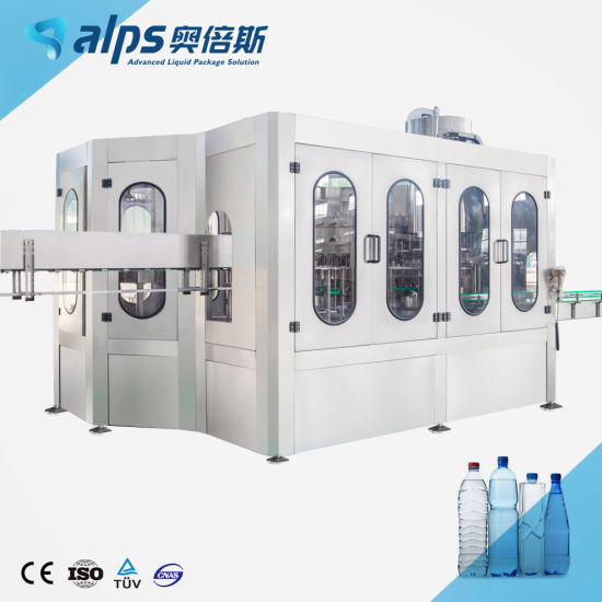 Automatic Complete Drinking Water Bottling Production Line Filling Labeling Packing Plant