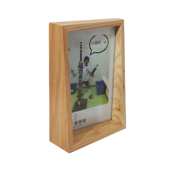 Simple But Creative Soild Wood Photo Picture Frame with Irregular Shape
