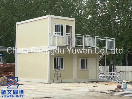 20FT Cost Saving Two Floors Prefabricated House Modular Home Thailand