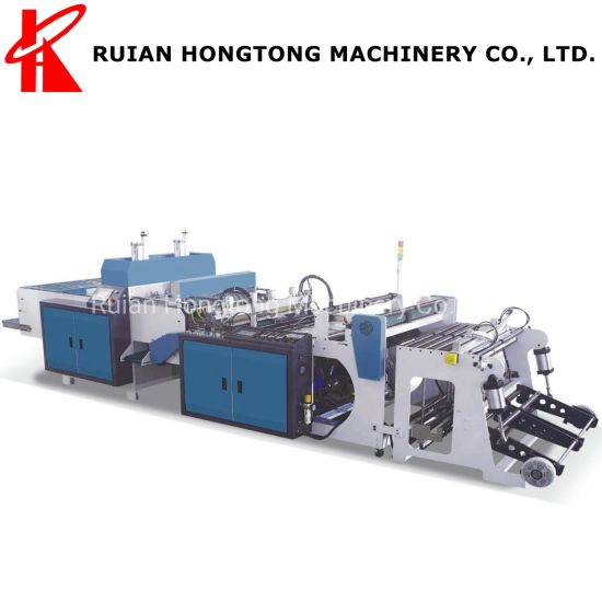 High Speed 300PCS*2 Lines Hot Sealing and Hot Cutting PE HDPE Plastic Bag Making Machine for Making T-Shirt Shopping Vest Bag Grocery Drugstore Restaurant Bag