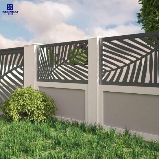 Laser Cut Decorative Outdoor Metal Sheet Garden Fence