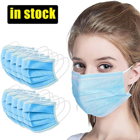 FDA Approved Non Woven Fabric 3 Ply Disposable Ear Loop Face Mask